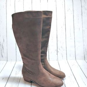 LE CHATEAU Taupe knee height western boots
